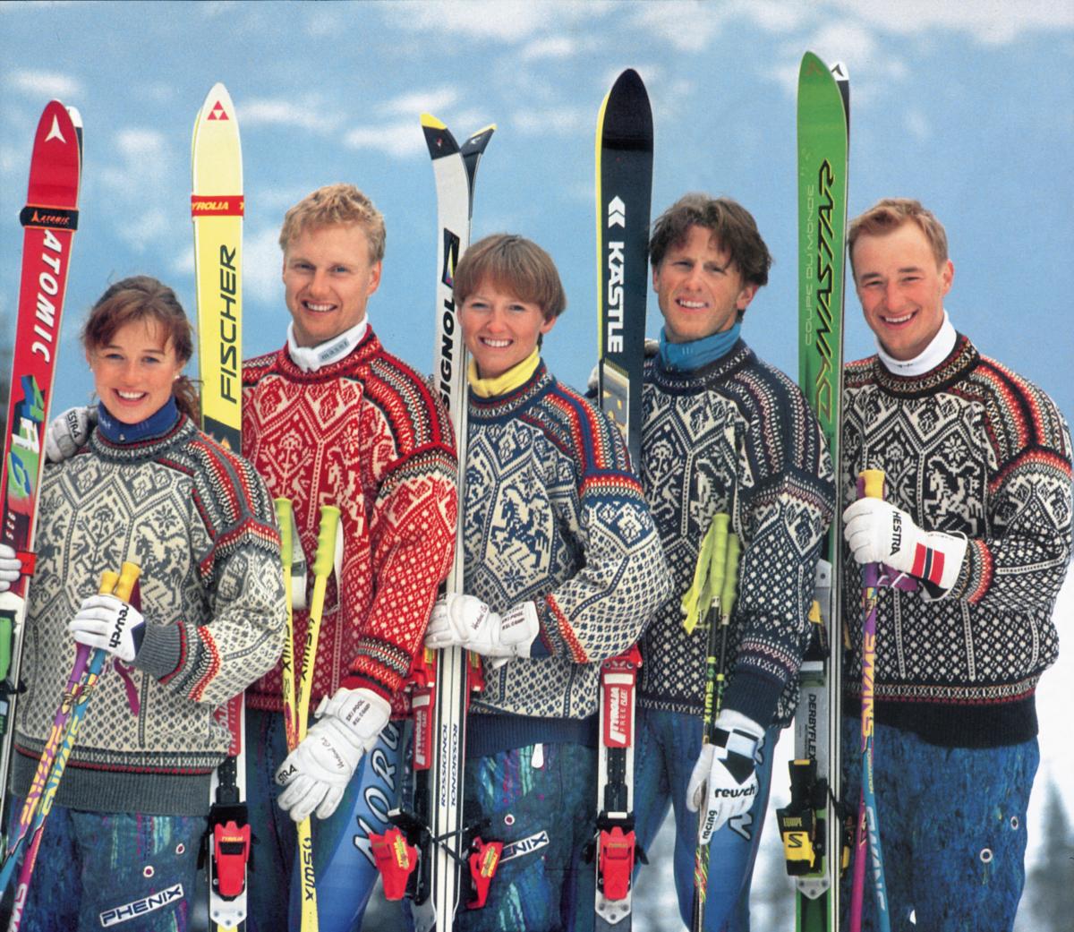 Idrettsutøvere med OL-gensere i 1994.