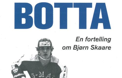 """Utsnitt av bokomslag med tittelen """"Botta – En fortelling om Bjørn Skaare""""."""