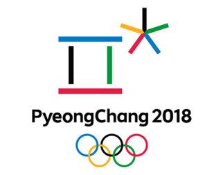 Logo for PyeongChang 2018 med OL-ringer