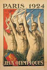 Offisiell plakat fra OL i Paris i 1924.