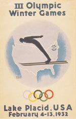 Offisiell plakat fra OL i Lake Placid 1952.
