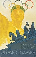 Offisiell plakat fra OL i Berlin i 1936
