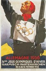 Offisiell plakat fra OL i Garmisch-Partenkirchen 1936.