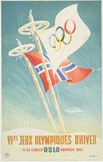 Offisiell plakat fra OL i Oslo i 1952.