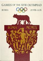 Offisiell plakat fra OL i Roma i 1960.