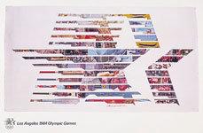 Offisiell plakat fra OL i Los Angeles i 1984.