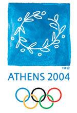 Offisiell plakat fra OL i Athen i 2004.