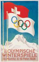 Offisiell plakat fra OL i St.Moritz 1928