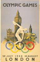 Offisiell plakat fra OL i London i 1948.