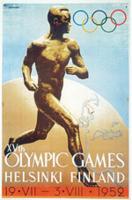Offisiell plakat fra OL i Helsinki 1952.