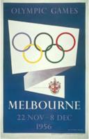 Offisiell plakat fra OL i Melbourne i 1956.