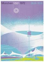 Offisiell plakat fra OL i Munchen i 1972.