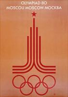 Offisiell plakat fra OL i Moskva i 1980.
