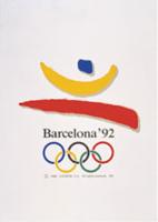 Offisiell plakat fra OL i Barcelona i 1992.