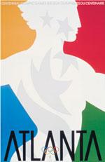 Offisiell plakat fra OL i Atlanta i 1996.