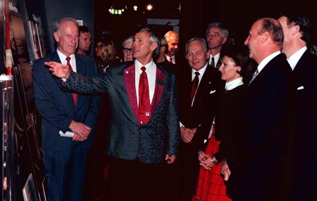 Fra åpningen av ol-museet på Lillehammer i 1997